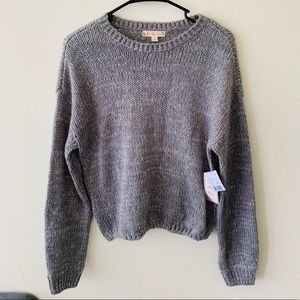 Gray Cozy Knit Sweater   It's Our Time   Medium